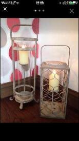 To cast-iron lanterns