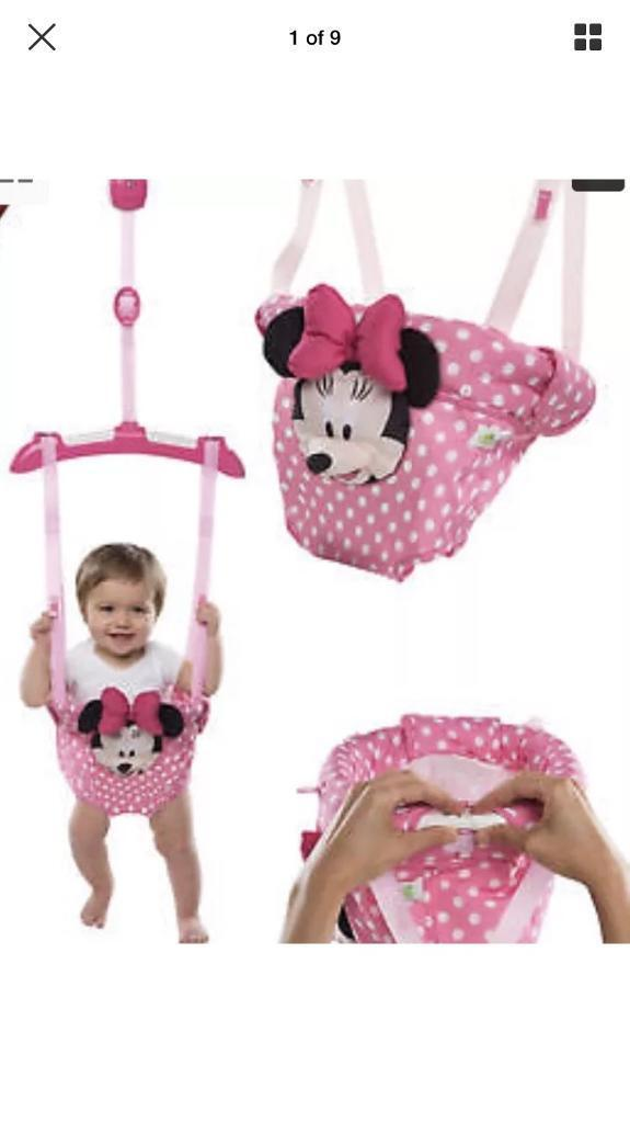 3d37d6e2dbef Brand new in box Bright Starts Disney Minnie Mouse Door Bouncer ...