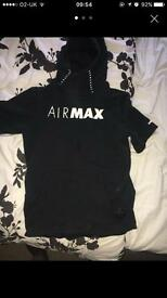 Air max sleeveless hoody size m