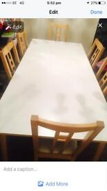 6 seat dining table excellent condition can extend