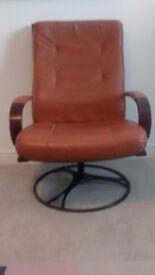 Leather Armchair. Rotating