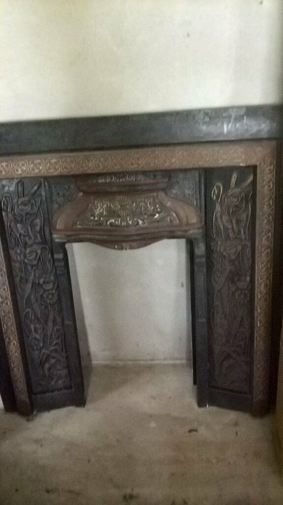 Marble Fire Surround Black Hearth And Old Black Cast Iron Insert In Newry County Down Gumtree