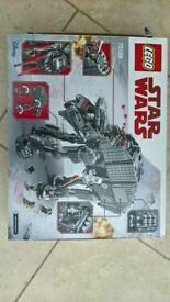 BNIB Lego Star Wars First Order Heavy Assault Vehicle (75189) NO MINIFIGURES