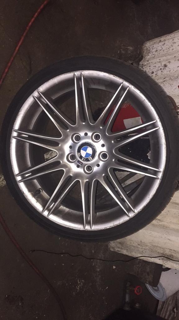"""BMW msport mv4 19"""" alloys with tyres"""