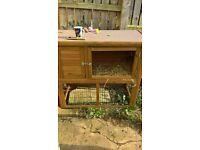 rabbit hutch with run
