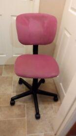 Pink office/desk chair.