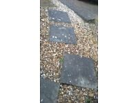 9 paving slabs and 12 scalloped edging for sale