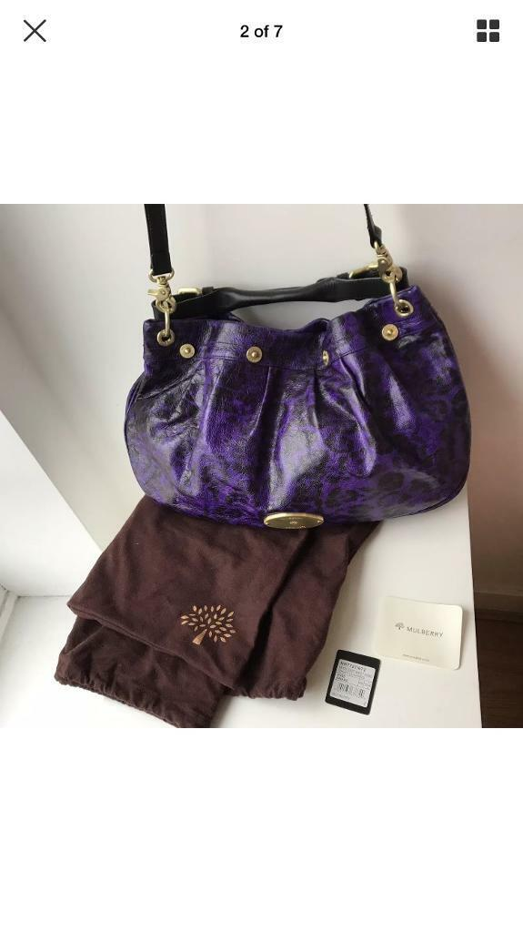 Authentic Mulberry Mitzi G Leopard Hobo Handbag Limited Addition