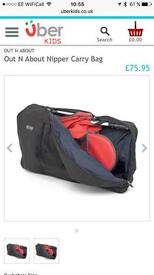 Out n about padded double buggy travel bag