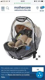 Mothercare baby car seat raincover