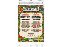 Neighbourhood weekender Saturday tickets x3