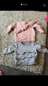 Two baby girl jumpers