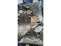 Snake Pattern Envelope Clutch Bag