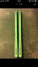 K2 5500 skis with Salomon bindings