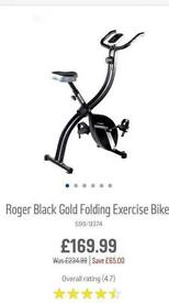 roger Black Gold folding exercise bike.