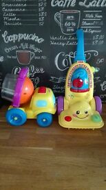 Fisher price hoover and Fisher price truck