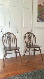2 x Ercol Vintage Elm Chairs Mid Century