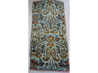 Ladies head/neck/hip scarf, made in India, 100% polyester, excellent condition., 138cm x 34cm