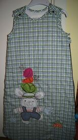 Baby's embroidered sleeping bag 6-18 months NEW