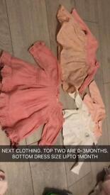 Baby girl clothes & bits
