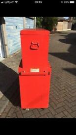 """Snap on 26"""" tool stack box chest plus up and over top box"""