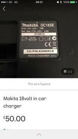 Makita in car charger 18v