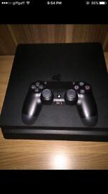 New Ps4 1TB memory slim with controller and cables