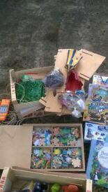 assortment of Childs toys