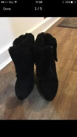 Gorgeous brand new ASH ladies black suede boots which have never been worn. Size 37 (U.K. Size 4)