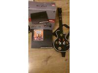 PS3 Playstation 3 Slim 320gb with original box plus Guitar Hero III Legends of Rock with Guitar