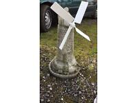 Garden windmill working stone plus other garden items