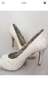Monsoon bridal shoes. Brand new. Size 5