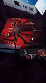 Ps4 with 4 games spiderman skin with box only played 5 times 500gb £220
