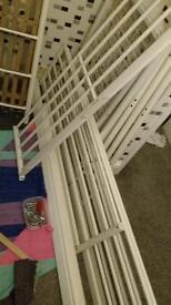 IKEA White Double Metal Loft Bed