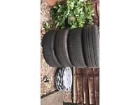 4 Tires, with Steelys   1 Brand New, 3 Good