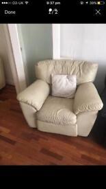 Cream Recliner One seater sofa