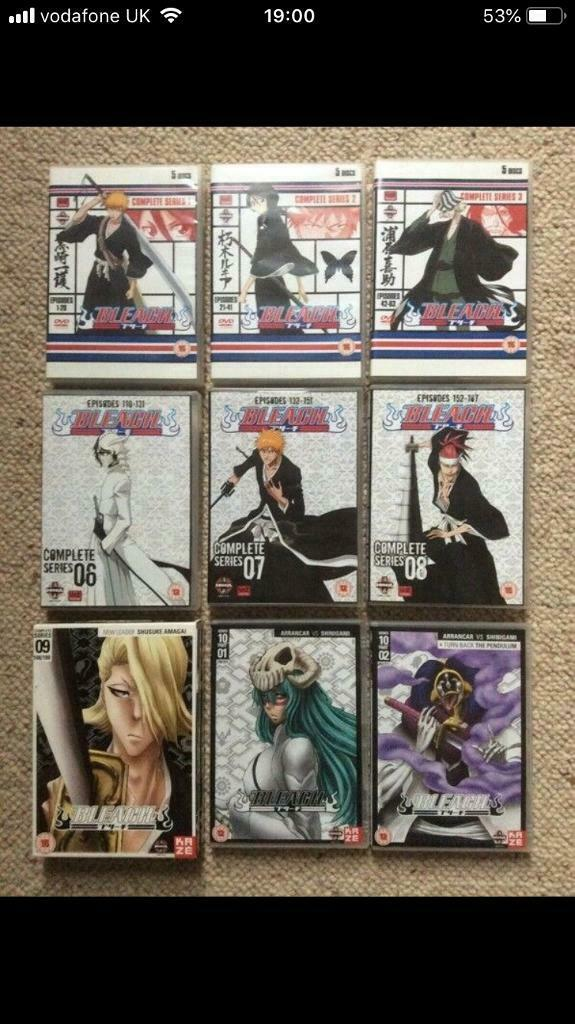 Bleach main story season 1-3 and 6-10 | in Northampton, Northamptonshire |  Gumtree