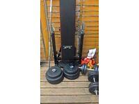 Good Condition weights, bench & Dunbells
