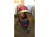 Baby Jogger City Mini Purple with raincover and cozy toes