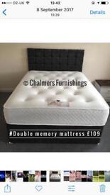 Brand new double mattress orthopaedic or memory foam £109