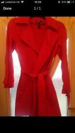 DKNY red coat