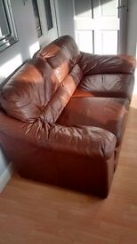 2 Seat Leather Sofa (Brown), £75, In Great Condition.