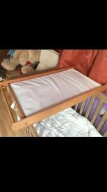 Cot bed changing table