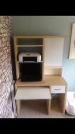Ikea computer desk, set of drawers and office chair