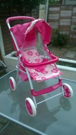 Doll Pushchair - pink