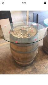 Wine barrel high table
