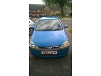 Vauxhall Corsa 1L 02 plate - Cheap Runner **Offers welcome**