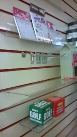 Slatwall shelving