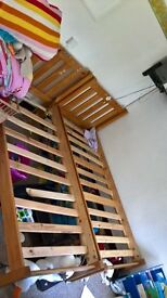 single solid pine bed