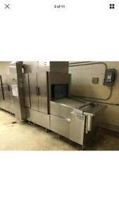$250,000 Hobart flight dishwasher ft900d and pulper